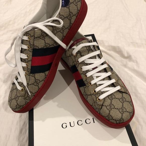 affaba102 Gucci Shoes | Supreme Mens Ace Gg Beige Sneaker Size 95 | Poshmark