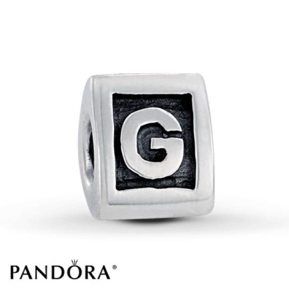 pandora alphabet g charm