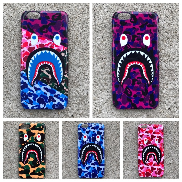 buy popular 35c35 85df3 Beautiful BAPE Camo Shark Mouth Collection iPhone NWT