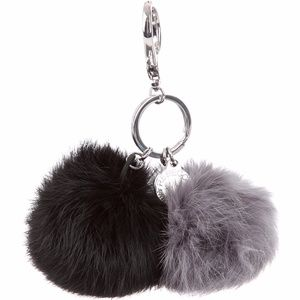 ... Rebecaa Minkoff Double Fur Pom Pom Keychain ... 57feaad1a
