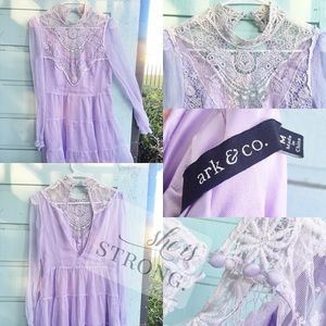 Ark & Co. Lace Tunic Blouse Medium