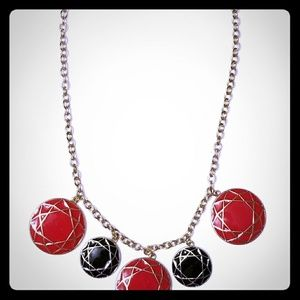 Jacyln Smith fashion Necklace - colors black, red