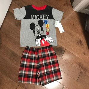 Mickey Mouse short and shirt set