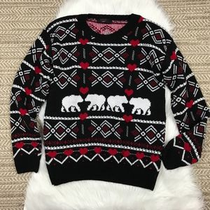 Polar Bear and Heart Sweater