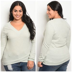 Plus Size Sweater Mint Green Woman's 1X 2X 3X XL