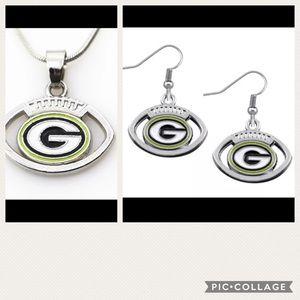 Jewelry - NWT NFL football team necklace earrings set