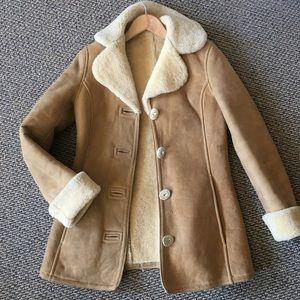 Vintage Suede Sherling Coat 🧥 Marlboro Man Style