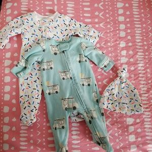 Baby Gap Ice Cream Footed Romper Set