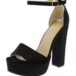 Black Velvet Heels Elegant Sexy Night Out Date🖤