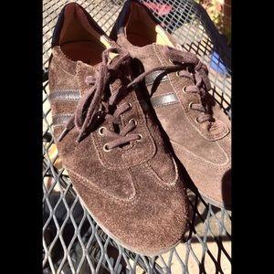 Lauren, Ralph Lauren Brown Suede Shoes, Size 8