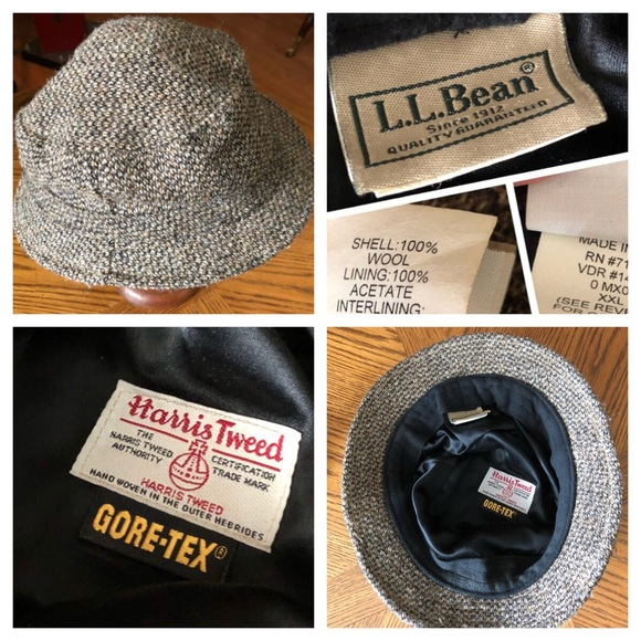 f6e85c9fd3bc9 L.L. Bean Other - L.L. BEAN Men s Gray HARRIS Tweed Gore•Tex Hat