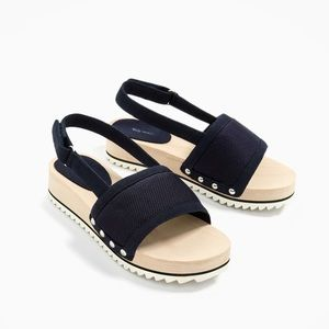 Zara girls sandals with quilted details