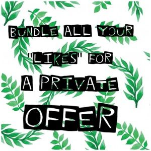 🐾Bundle All Your LiKes For A Private Offer🐾