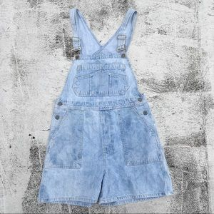 VINTAGE Dungarees Denim Shorts Overall