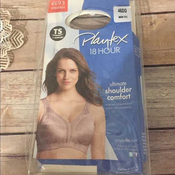 f76dbaca97 Playtex 18 Hour Bra 4693 wirefree Warm Steel