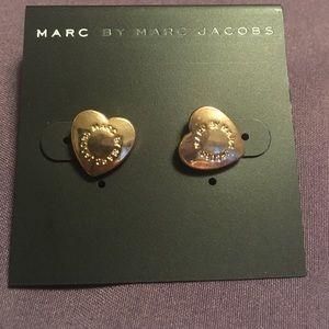 Marc Jacobs heart stud earrings
