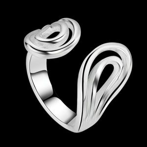 925 Sterling Silver Open Band Statement Ring