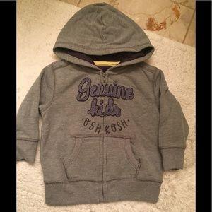 Grey hooded sweatshirt Osh Kosh