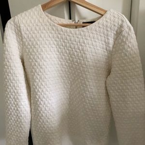 Quilted Gap Sweater