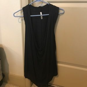 Black tunic with option to tie I'm back or front