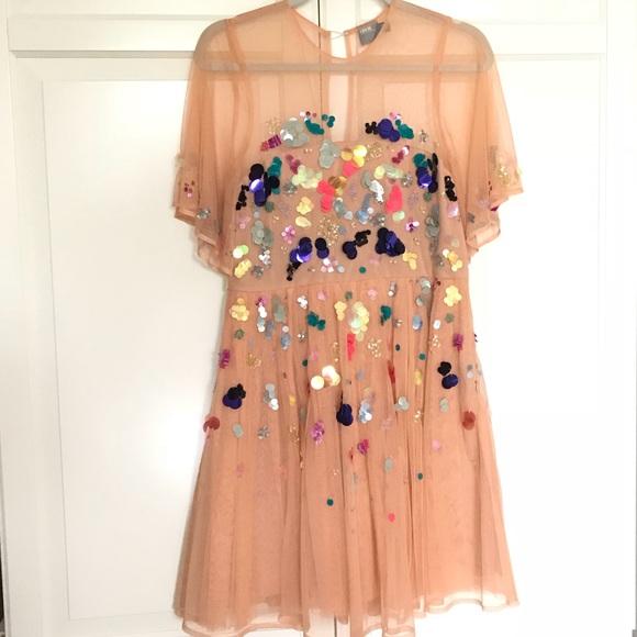 542a661f3440 ASOS Dresses & Skirts - ASOS mesh scattered sequin mini dress