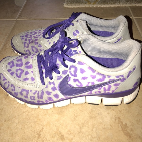 Purple Leopard Cheetah Nike Sneakers