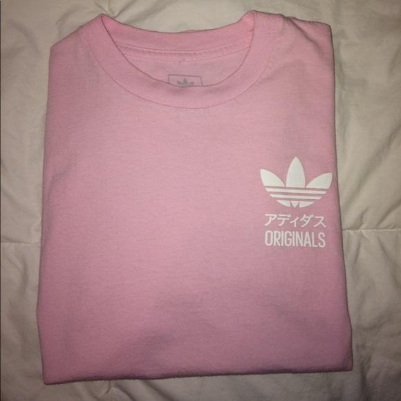 adidas al massimo piccola rosa originali t - shirt pacsun dimensioni m poshmark