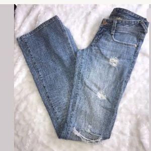 Bebe EST 1976 Premium Denim Flare Ripped Jeans  25