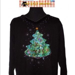 Sequined Quacker Factory Sweater #99