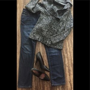 LIZ CLAIBORNE PETITE CITY SKINNY 12P jeans