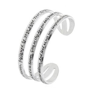 Lord's Prayer Silver Bracelet