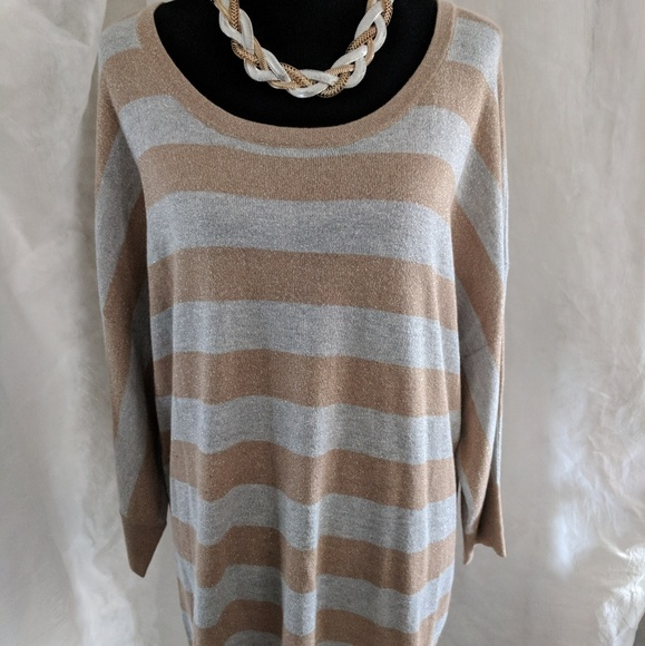 75% off Coldwater Creek Sweaters - CWC Shimmer Stripes Sweater ...