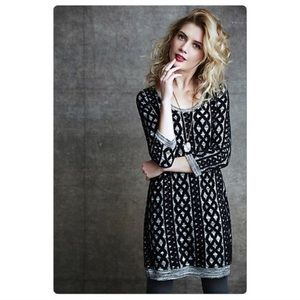 Anthropologie Sweaterstitched Tunic Dress