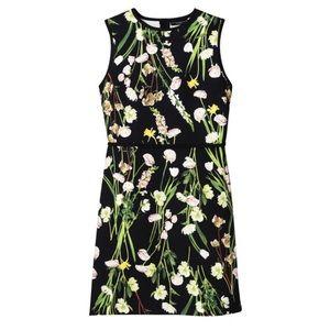 Black Printed Floral Dress