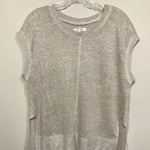 Madewell medium muscle knit top natural cream