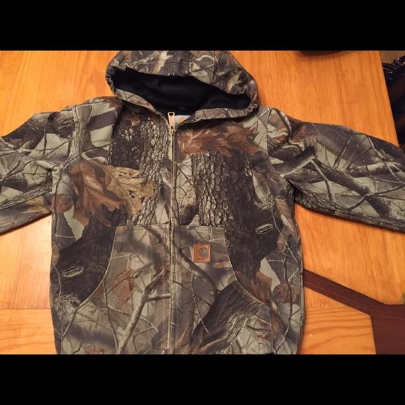 62fcd714 Carhartt Jackets & Coats | Boys Youth Camo Active Coat1012 Large ...