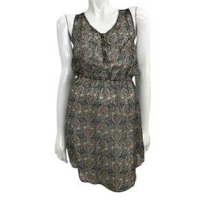 🆕Ella Moss Black Butterfly Print Silk Dress