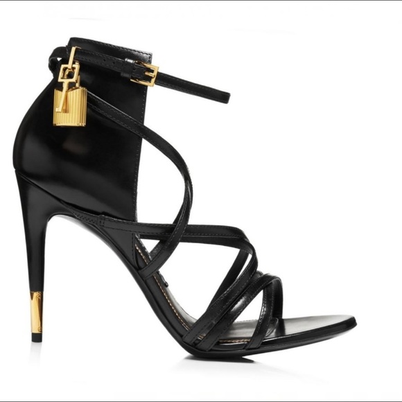 hot-selling cheap 60% discount select for genuine Tom Ford RARE Padlock Strappy Heel