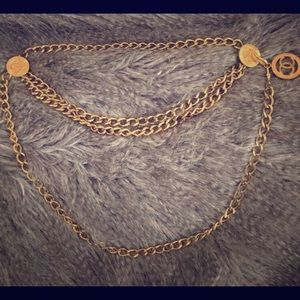 Authentic Vintage Gold Chanel Chain Belt