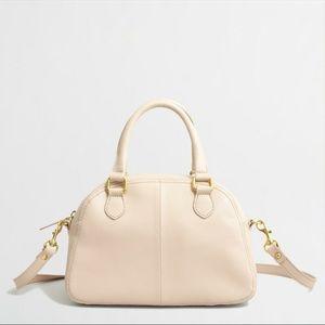 J.Crew Factory blush pink leather satchel