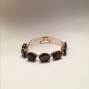 Jewelry - Smokey Quartz Gold Tone Bracelet