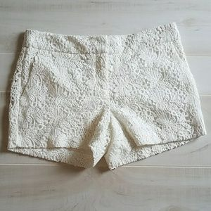 Cynthia Rowley Ivory/Cream Crochet Shorts