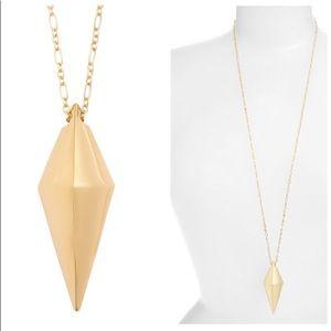 Rebecca Minkoff Pyramid Pendant Necklace