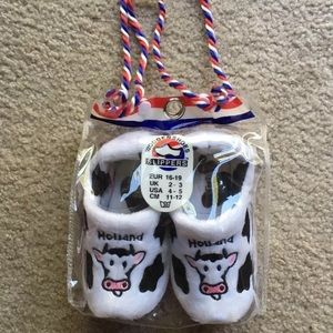 Other - Holland Wooden Shoes Kids Slipper Cow Print