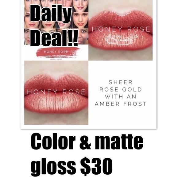 Honey Rose Lipsense and Matte Gloss combo for $30