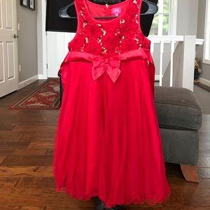 Girls Ref Christmas Dress