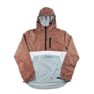 Half Zip Windbreaker - Rose Gold/White/Grey