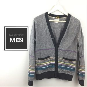 Urban Outfitters Koto Striped Marled Cardigan