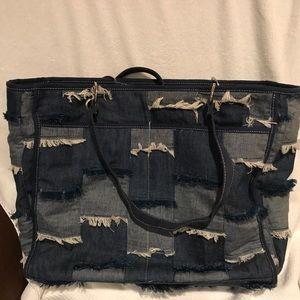 Handbags - Denim Diaper Bag