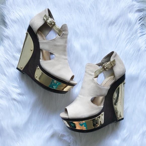 434f7417a9b Gianni Bini Shoes - Gianni Bini Suede Platform Mirrored Audrinah Wedge